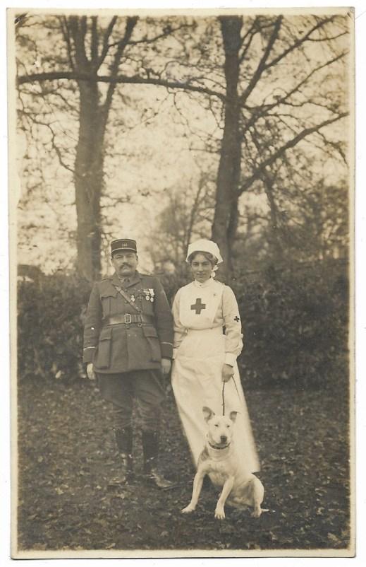 1918 ww1 nurse & french soldier