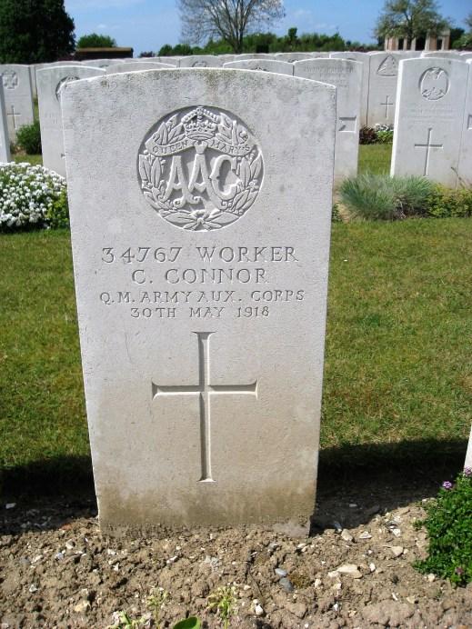 1918 Catherine Connor grave stone