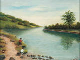 1910 Lido Painting by Miss Sweet
