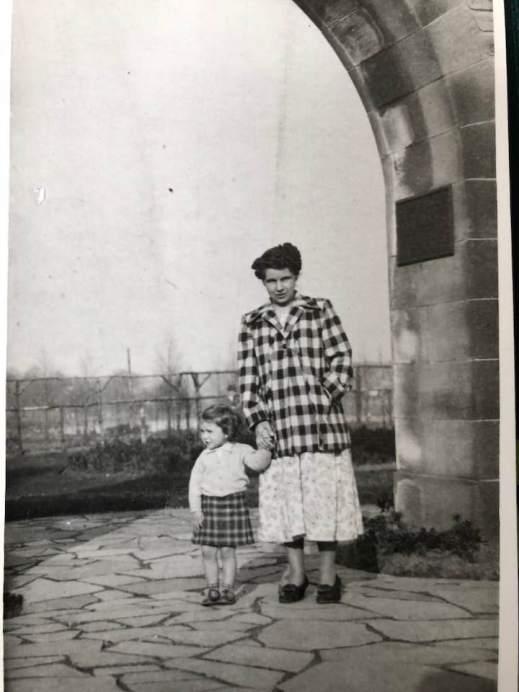 1950 Elizabeth Weaver at Cowan Wilson Arch