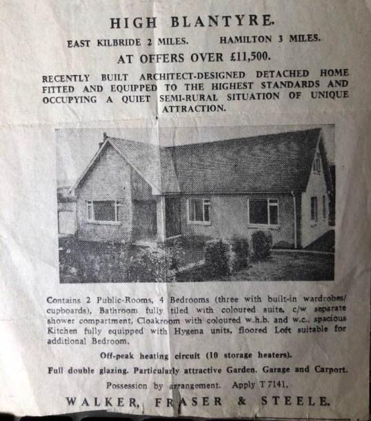 1971 Glebe House Sale Advert