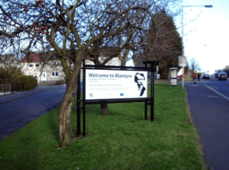 2013 Welcome to Blantyre sign