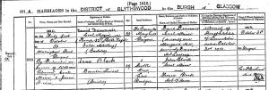 1914 Annie Black Marriage Certificate