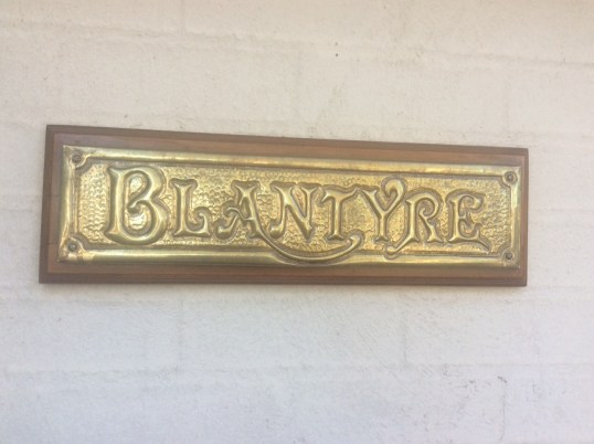 2019 Blantyre house sign