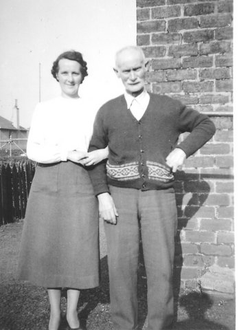 My Great Aunt Annie and her father, my Great Grampa Nimmo 1950ish