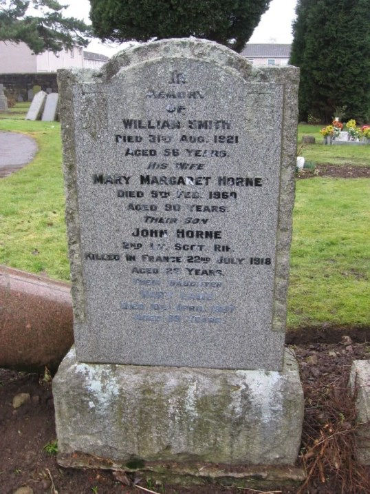 Smith Grave stone Blantyre