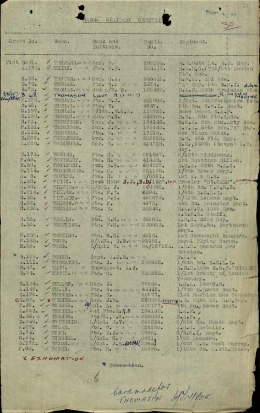Grave registration 2