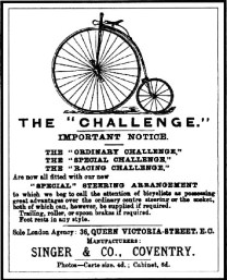 ad for bicycle