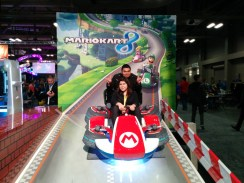 Having some fun at the Gaming Expo before the Marvel panel - Photo by Blas Garcia