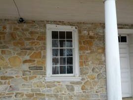 An interesting window on the front of the Haldeman Mansion