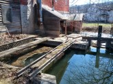 This is where the water enters the building to turn the water wheels