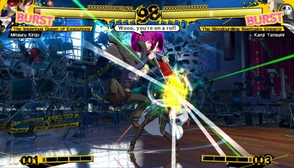 Persona 4 Arena Kanji vs Mitsuru