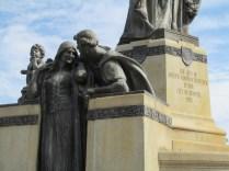 conspiring statues