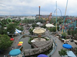 Elitch Gardens arial view