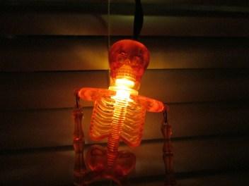 glowing orange skeleton light