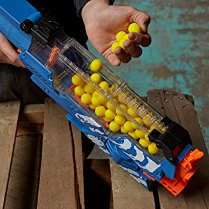 Loading the NERF Nemesis hopper