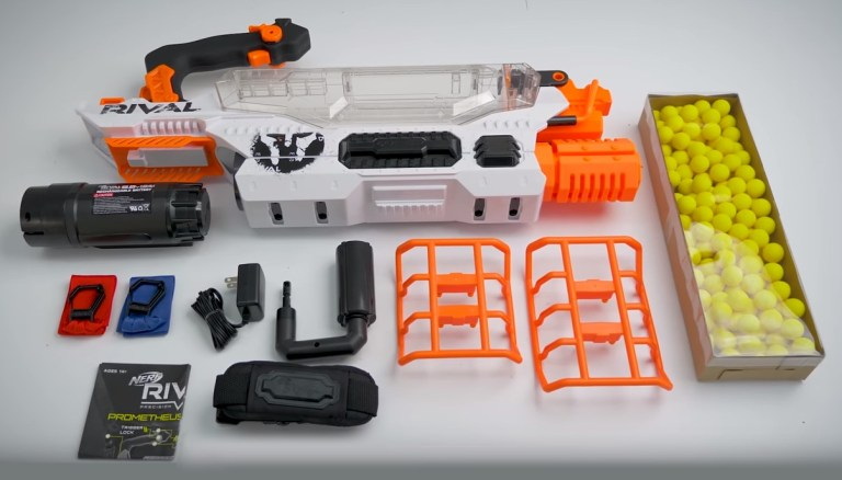 Rechargeable Battery Nerf Rival Prometheus MXVIII-20K Blaster 200 Rival Rounds