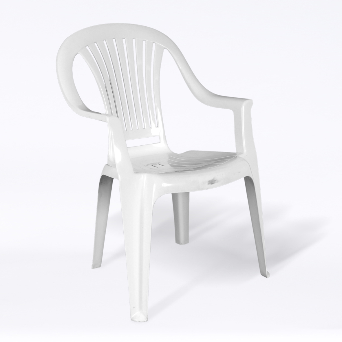 Plastic Outdoor Chair Hire A White Plastic Patio Chair Chairs Furniture And