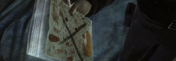Undoubtedly one of the coolest parts of the Condemned series is the forensic science aspects.