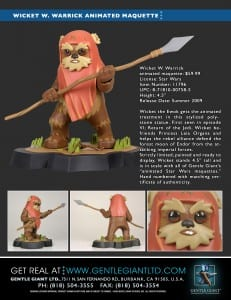 Wicket W. Warrick animated maquette