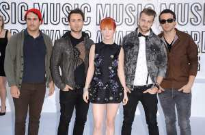 Paramore arrives at the 2010 MTV Video Music Awards held at Nokia Theatre L.A. Live on September 12. (WireImage)
