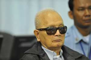 Brother Number Two Nuon Chea at ECCC Nov 21