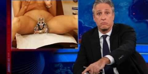 Jon Stewart ruffles the feathers of Christians, and Delta Air Lines with this doctored image.