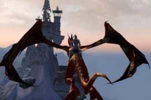 riding a dragon