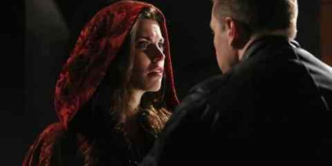 Charming (Josh Dallas) tries to convince Ruby (Meghan Ory) that she is not to blame for the death of two men.