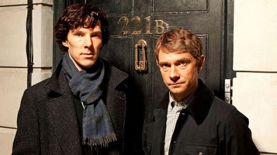 Sherlock—Cumberbatch and Freeman