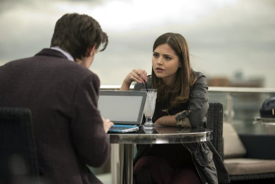 The Doctor (Matt Smith) and Clara (Jenna Louise-Coleman) try to figure the spoonheads and each other out.