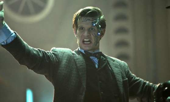 The Doctor (Matt Smith) must duel with a Cyberman chip inserted in his brain.