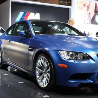 "An M3 sporting BMW's ""frozen"" paint."