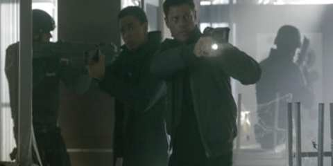 Dorian (Michael Ealy) and John (Karl Urban) face off against an internet threat on this weeks episode of Almost Human.