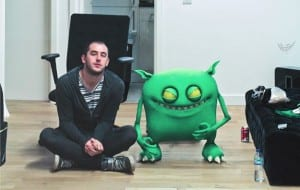 Feed Me and his monster. Media credit to Do Androids Dance.