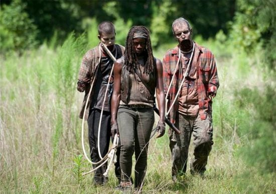 Michonne (Danai Gurira) sets out to find Rick and Carl in the aftermath of the Governor's attack.