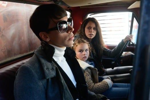 Sarah (Tatiana Maslany) looks for her daughter in weeks Orphan Black.