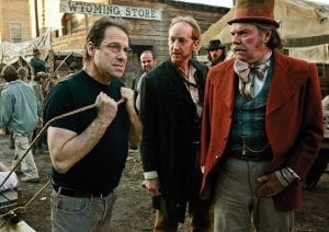 David Milch on the set of Deadwood