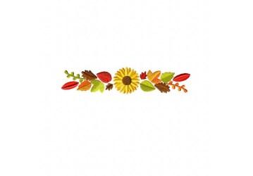 border leaves autumn embroidery machine fall floral decorative blastostitch