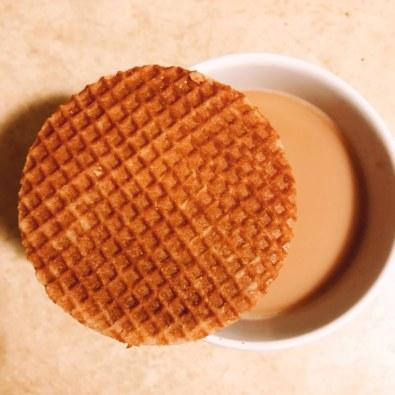 3/27: Stroopwafel for breakfast