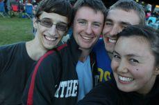 Matt, Charlie, Tom, and I owning the DSLR selife