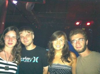 Erica, Gunnar, myself, and Aaron. You may have realized now that Aaron is like my go-to concert buddy. He's awesome.