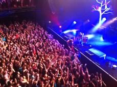 Surging crowd