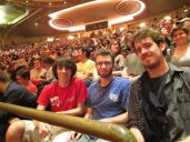 The boys had separate seats because Aaron (center) bought me a two tickets for my birthday, as he was already going.