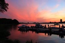 Esplanade: summer sunset on the Charles