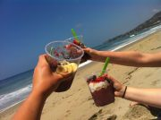 Cheers! To-go bowls enjoyed on the beach. These are all the smallest size.
