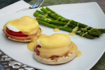 Eggs Benedict for Mother's Day (homemade)