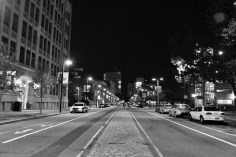 Night on Columbus Ave, staying true to my love of symmetrical photography.