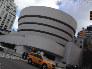 The Guggenheim from Central Park, just spectacular.