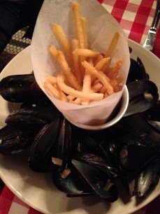 Mussels and fries at PJ Clarke's